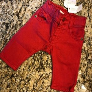 Red Baby skinny Jeans 0-3 mos